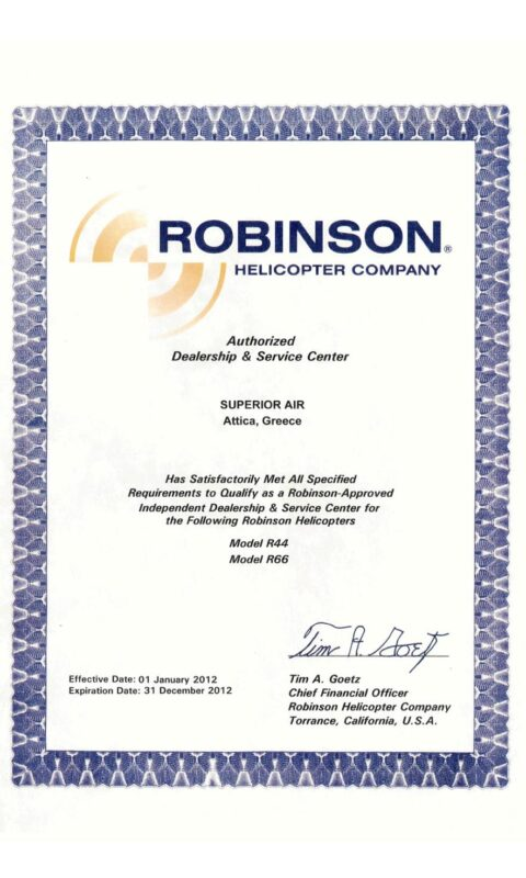 Robinson Authorised Dealer and Service Center R44 – R66
