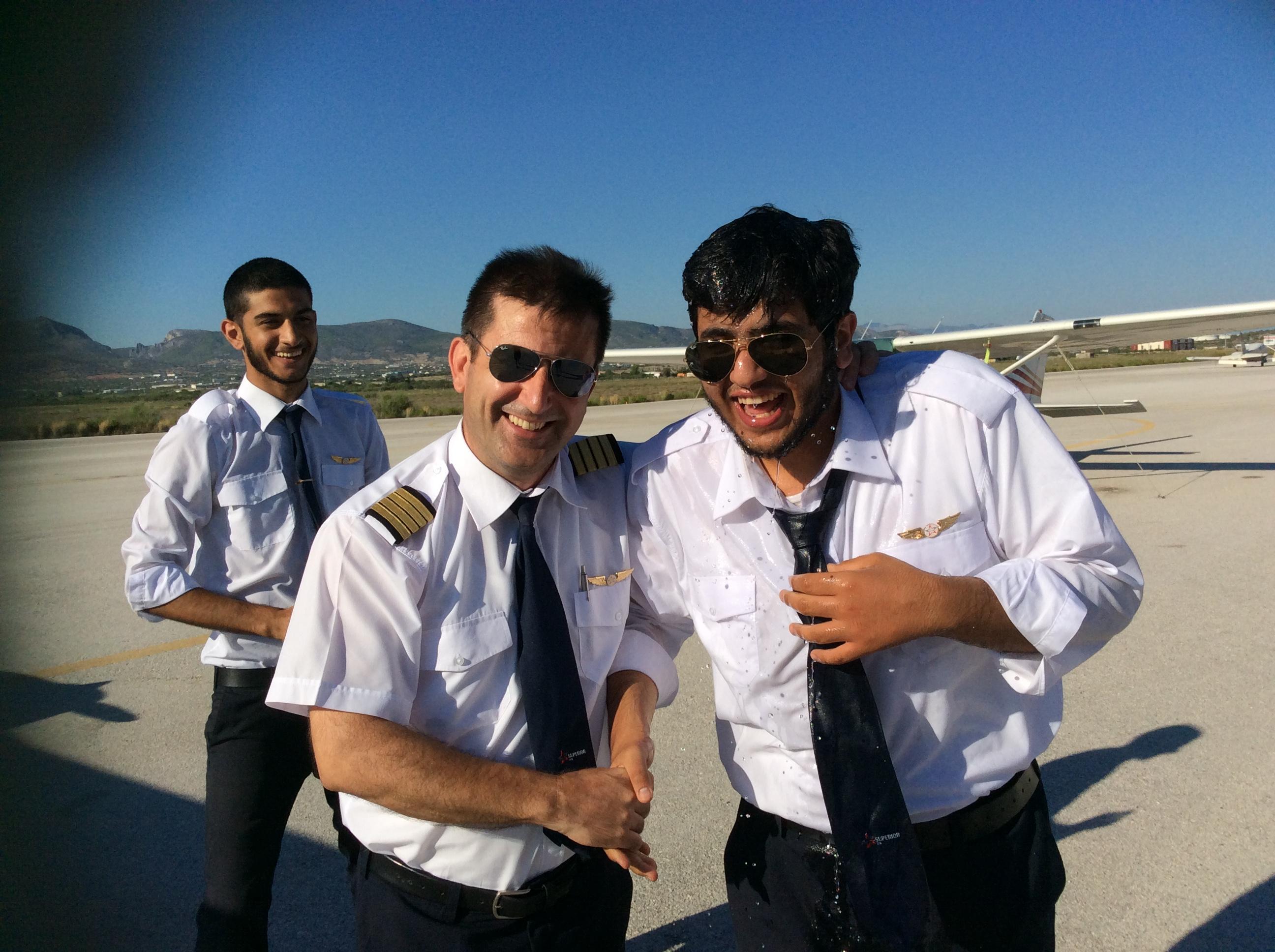 Mr. Abdula Ismael first solo flight!