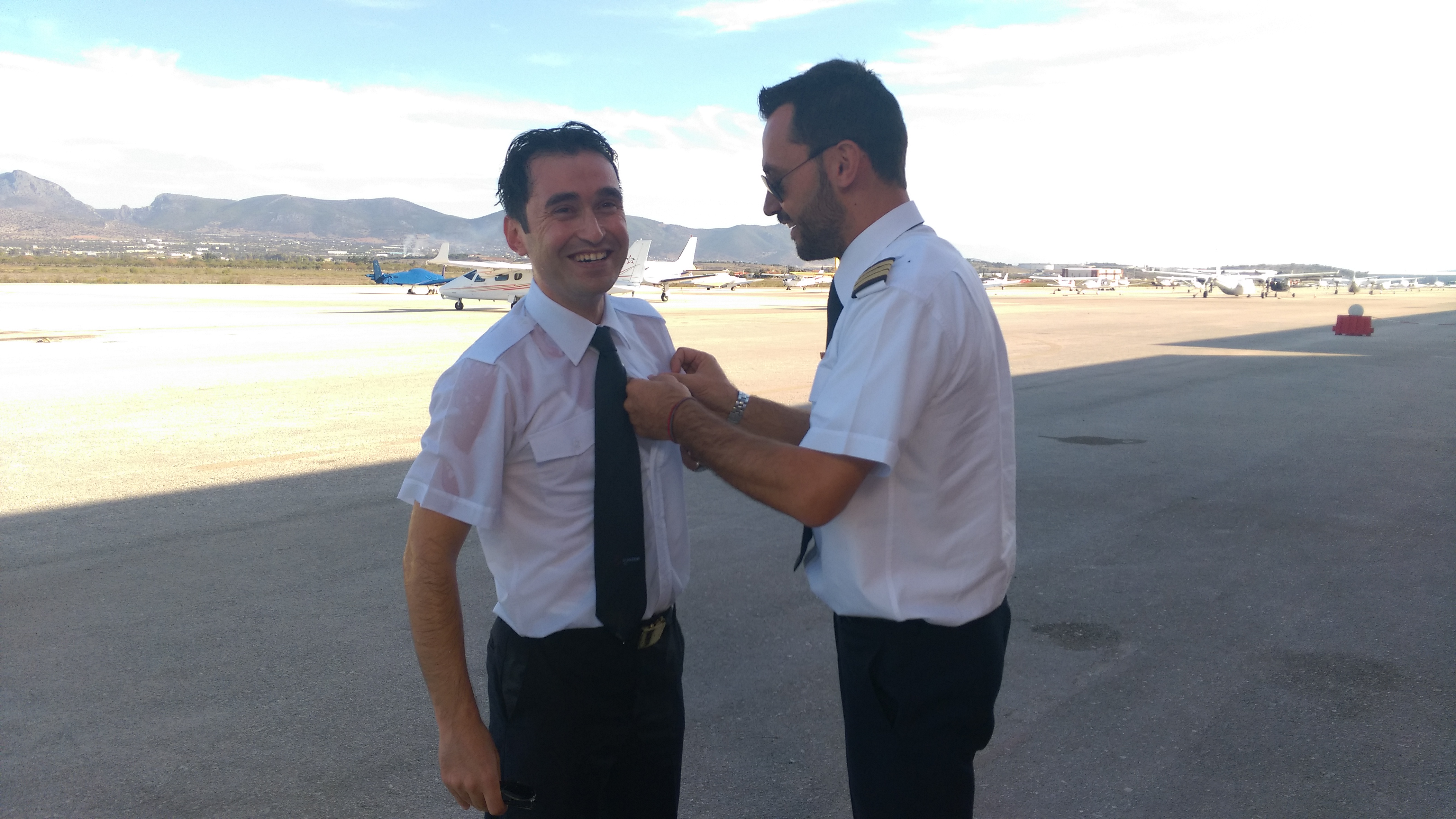 Mr. Bayrak Mehmet successfully completed his first solo flight!