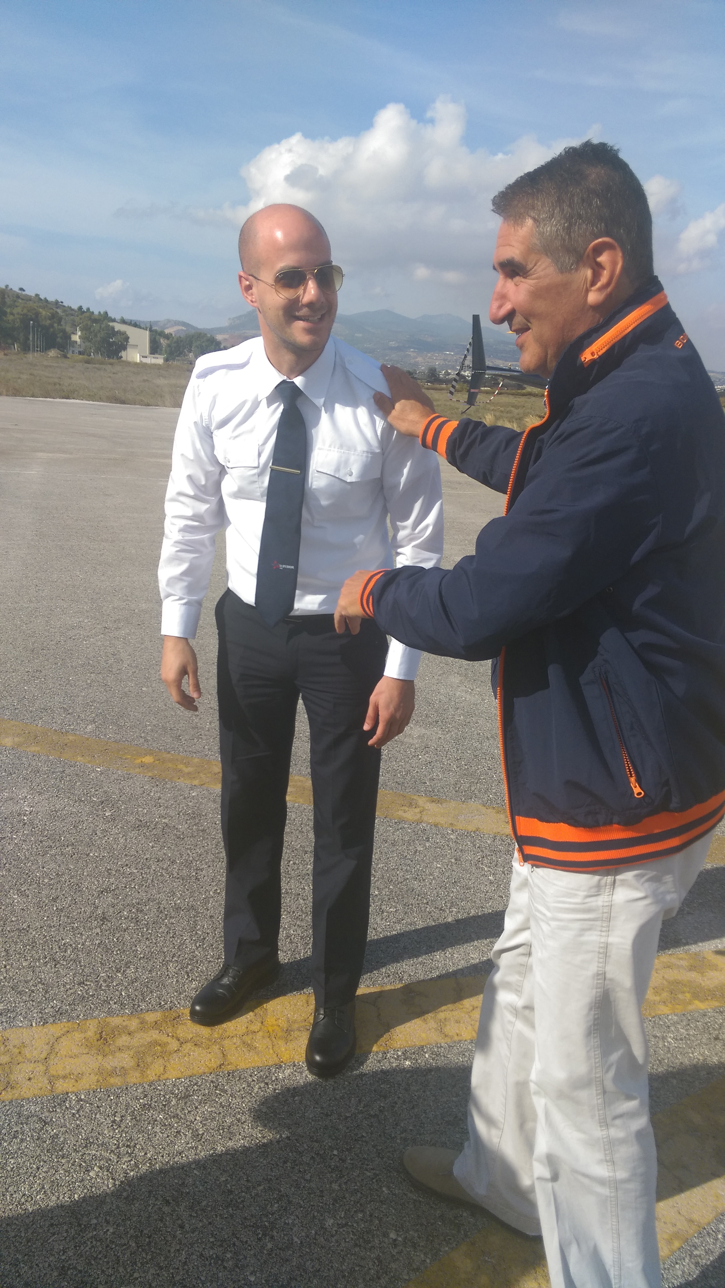 Mr. Georgakis Nikos successfully completed his first solo flight!